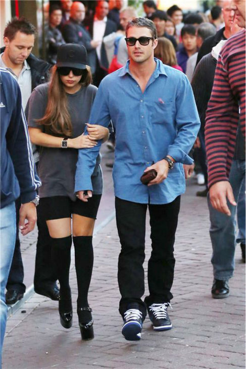 Lady Gaga walks with boyfriend Taylor Kinney in Amsterdam, Holland, on Sept. 1, 2012. <span class=meta>(Ferry de Kok &#47; startraksphoto.com)</span>