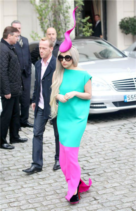 Lady Gaga heads to ITV Studios in London on Nov. 16, 2011.