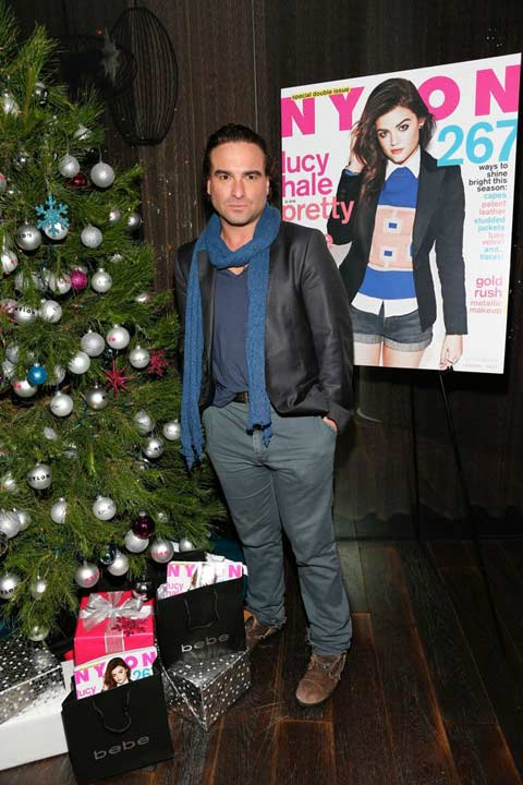 "<div class=""meta ""><span class=""caption-text "">Johnny Galecki attends the launch party for Nylon Magazine's December/January 2013 issue at The Wine Gallery at The Andaz West Hollywood on Dec. 7, 2012. (Photo/WireImage)</span></div>"