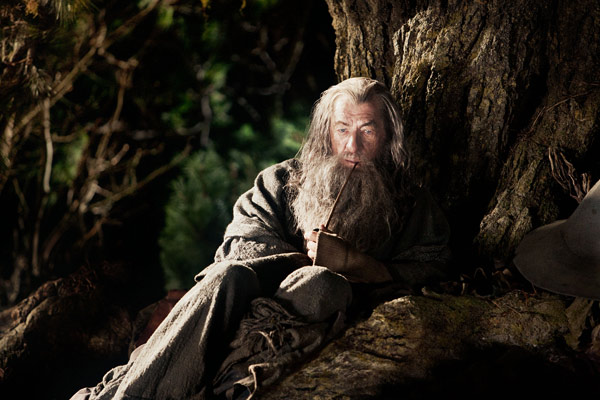 "<div class=""meta ""><span class=""caption-text "">Ian McKellen reprises his role as Gandalf the wizard in New Line Cinema's and MGM's fantasy adventure 'the Hobbit: An Unexpected Journey,' a 2012 Warner Bros. Pictures release. It is the first of a three-part prequel to the hit 'Lord of the Rings' franchise. (James Fisher / Warner Bros. Pictures)</span></div>"