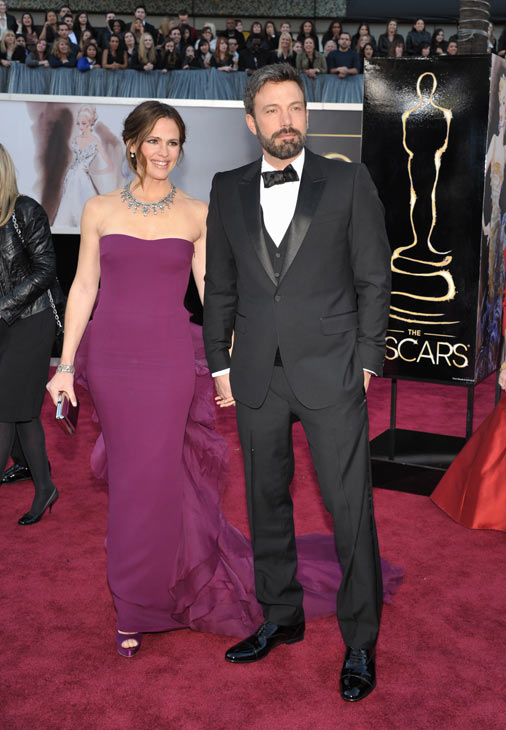 Actors Jennifer Garner, left, and Ben Affleck...