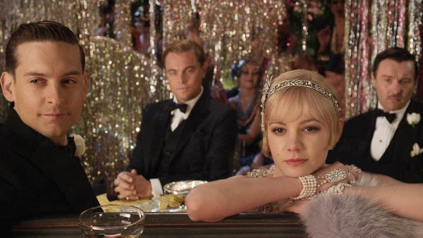 From left: Tobey Maguire,  Leonardo DiCaprio, Carey Mulligan and Joel Edgerton appear in a scene from 'The Great Gatsby,' released on Dec. 25, 2012.