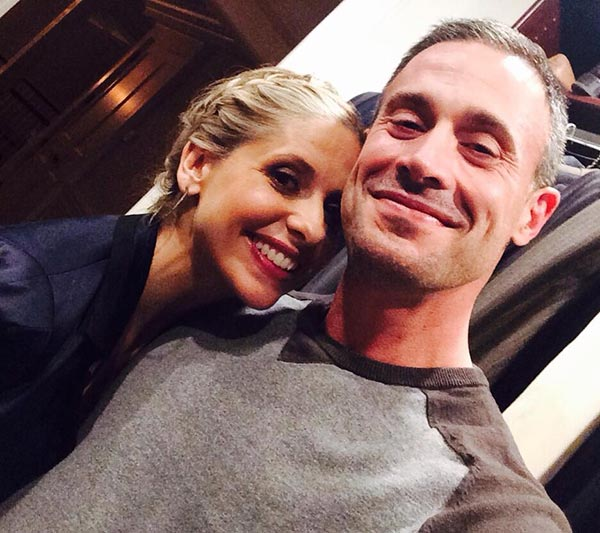 Sarah Michelle Gellar and Freddie Prinze Jr. appear in a selfie the actress posted on her Twitter page on March 12, 2014. She said: 'Now only because this is a special occasion....To all my fans, for your loyalty and support, I thank you. 200,000!!!'