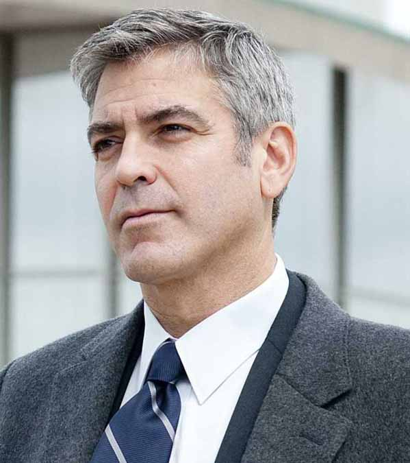 George Clooney appears in a scene from 'Up in...