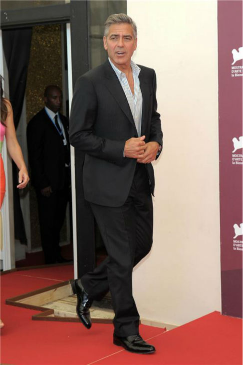 George Clooney walks the red carpet at a photo call for the film &#39;Gravity&#39; at the 70th annual Venice International Film Festival on Aug. 27, 2013. <span class=meta>(Comi &#47; Terenghi &#47; Startraksphoto.com)</span>
