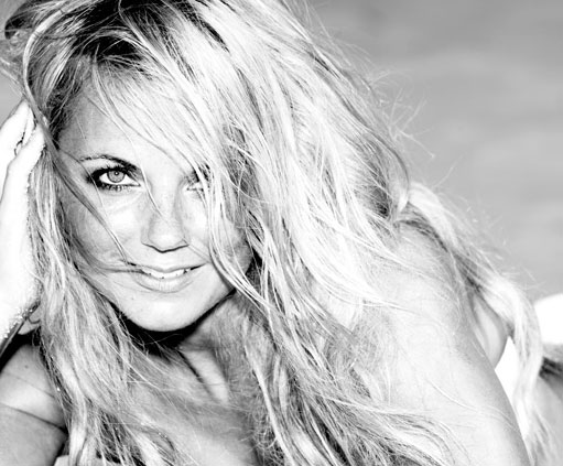 Geri Halliwell appears in a photo from her official website.