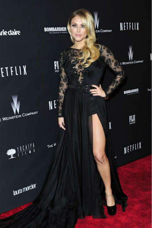 Cassie Scerbo &#40;&#39;Sharknado,&#39; &#39;Make It Or Break It&#39;&#41; appears at the Weinstein Company&#39;s and Netflix&#39;s 2014 Golden Globe Awards after party at the Beverly Hilton hotel in Beverly Hills, California on Jan. 12, 2014. <span class=meta>(Kyle Rover &#47; Startraksphoto.com)</span>
