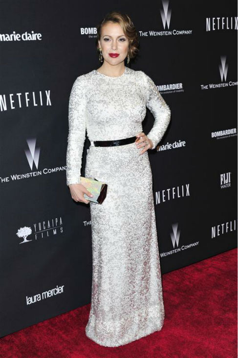 Alyssa Milano appears at the Weinstein Company&#39;s and Netflix&#39;s 2014 Golden Globe Awards after party at the Beverly Hilton hotel in Beverly Hills, California on Jan. 12, 2014. <span class=meta>(Kyle Rover &#47; Startraksphoto.com)</span>