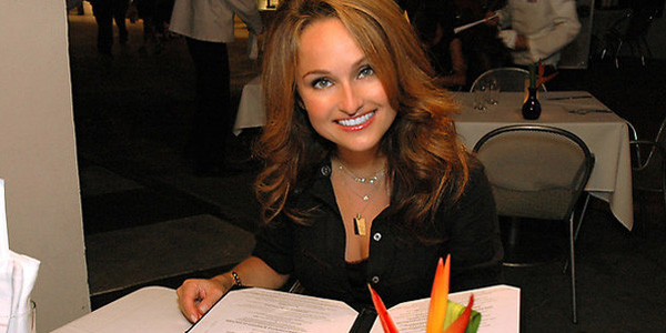 Giada De Laurentiis appears in a scene from the Food Network program 'Giada at Home.'