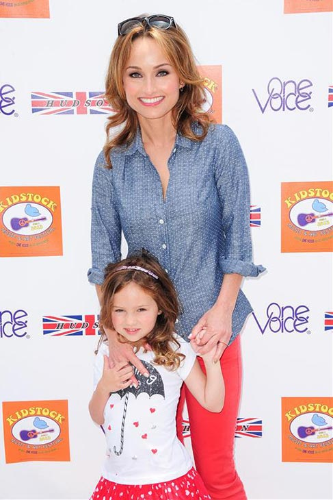 Food Network star and chef Giada De Laurentiis appears with her daughter, Jade, at the 2013 Kidstock Music and Art Festival at the Greystone Mansion in Beverly Hills California on June 2, 2013.
