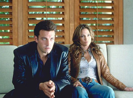 Ben Affleck and Jennifer Lopez appear in the...