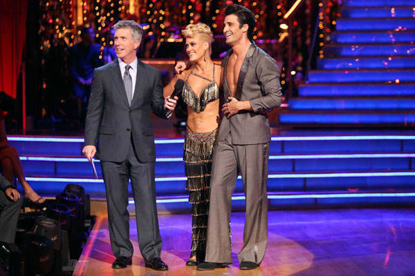 French actor Gilles Marini and his partner Peta Murgatroyd received 25.5 out of 30 points from the judges for their Jive on week two of &#39;Dancing With The Stars: All-Stars,&#39; which aired on Oct. 1, 2012. <span class=meta>(ABC &#47; Adam Taylor)</span>
