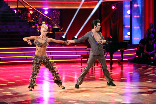 "<div class=""meta ""><span class=""caption-text "">French actor Gilles Marini and his partner Peta Murgatroyd received 25.5 out of 30 points from the judges for their Jive on week two of 'Dancing With The Stars: All-Stars,' which aired on Oct. 1, 2012. (ABC / Adam Taylor)</span></div>"