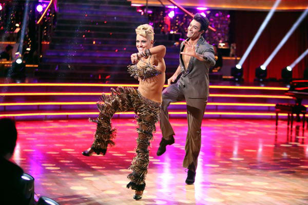 "<div class=""meta image-caption""><div class=""origin-logo origin-image ""><span></span></div><span class=""caption-text"">French actor Gilles Marini and his partner Peta Murgatroyd received 25.5 out of 30 points from the judges for their Jive on week two of 'Dancing With The Stars: All-Stars,' which aired on Oct. 1, 2012. (ABC / Adam Taylor)</span></div>"