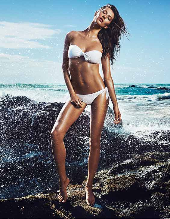 Gisele Bundchen appears in a bikini in a 2014 H&#38;M ad. <span class=meta>(H&#38;M)</span>