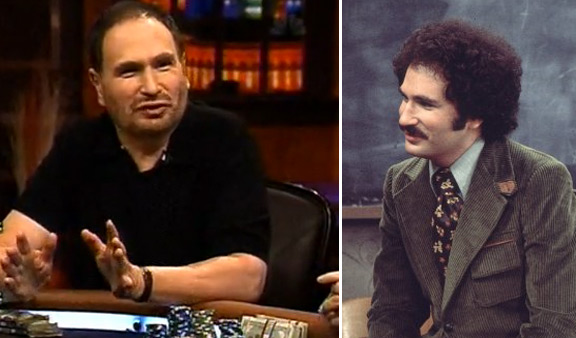 Gabe Kaplan appears in a scene from 'Welcome Back, Kotter' in 1976 / Gabe Kaplan appears in a scene from 'Full Tilt: Poker After Dark' in 2007.