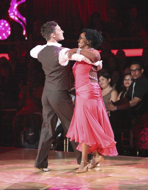 R&B legend Gladys Knight and her partner Tristan MacManus received 24 out of 30 points from the judges for their Foxtrot on week three of 'Dancing With The Stars,' which aired on April 2, 2012.