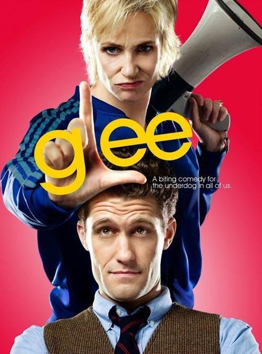 (Pictured: Jane Lynch and Mathew Morrison appear in a promotional photo for 'Glee.')