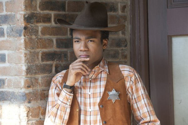 Donald Glover appears in a still from 'Community.'