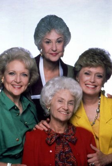 Pictured: Betty White, Bea Arthur, Rue McClanahan and Estelle Getty appear in a promotional photo for the 1980s series 'The Golden Girls.'