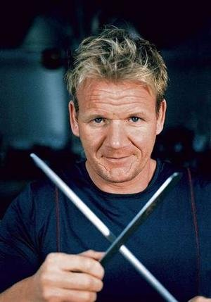 Loud, violent, and curse-word-infused insults are best served warm and the flames are always high in Gordon Ramsay&#39;s kitchen, &#39;Hell&#39;s Kitchen.&#39; What you mostly find in his kitchen is found in the wrestling ring. He whips his chefs unto shape with insults and curses. If the food is &#39;unsatisfactory,&#39; he&#39;s known for throwing it on the floor or in the garbage, throw it across the counter until it breaks into pieces, or, worse, dumps in onto the cook. He&#39;s known for calling his cooks many names, such as &#39;dumb blonde.&#39; On one occasion, he got a contestant so angry she reached to slap him but he held her hand back.  <span class=meta>(facebook.com&#47;pages&#47;Gordon-James-Ramsay&#47;17311958033?sk=wall)</span>