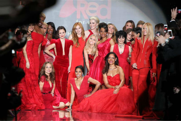 Celebrities such as Giada De Laurentiis, Bella Thorne, Ireland Baldwin, AnnaSophia Robb, Anika Noni Rose, Gina Torres, Kat Graham and Joan Jett appear on the runway at the Go Red For Women&#47;The Heart Truth Red Dress 2014 Collection fashion show during Mercedes-Benz Fashion Week in New York on Feb. 6, 2014. <span class=meta>(Amanda Schwab &#47; Startraksphoto.com)</span>
