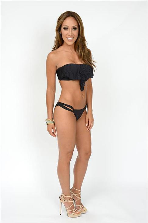 'Real Housewives of New Jersey' star Melissa Gorga models a bikini in New Jersey on July 28, 2013.
