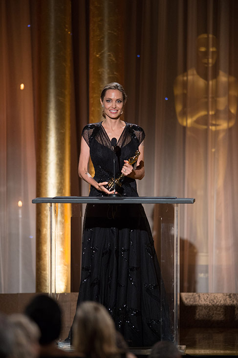 Jean Hersholt Humanitarian Award recipient Angelina Jolie appears at the 2013 Governors Awards at The Ray Dolby Ballroom at Hollywood and Highland Center in Hollywood, California on Saturday, Nov. 16, 2013. She gave an emotional speech honoring her late mother. <span class=meta>(Todd Wawrychuk &#47; A.M.P.A.S.)</span>