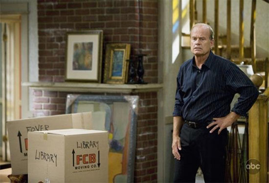 Like most Hollywood hopefuls, Kelsey Grammer did his time as a waiter and painted apartments in New York.  <span class=meta>(ABC)</span>
