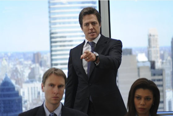 Hugh Grant in a scene from the 2009 movie, 'Did...