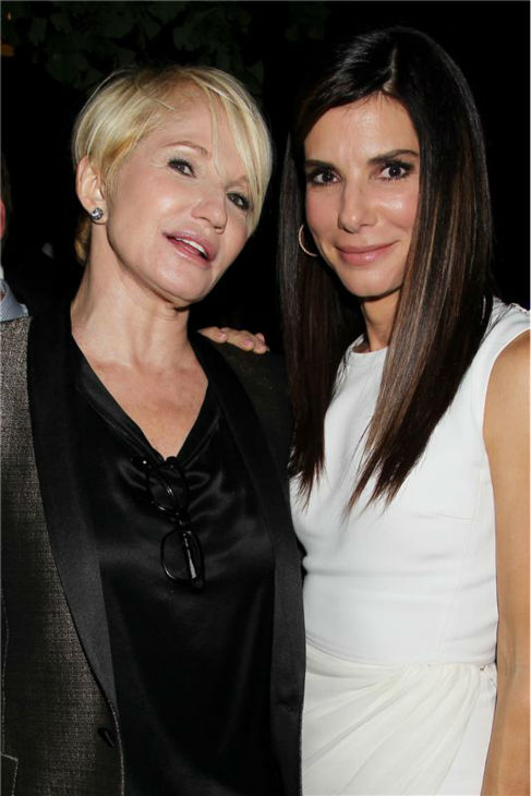 Ellen Barkin and Sandra Bullock appear at an after party following the premiere of &#39;Gravity,&#39; at the Museum of Natural History in New York on Oct. 1, 2013. <span class=meta>(Dave Allocca &#47; Startraksphoto.com)</span>