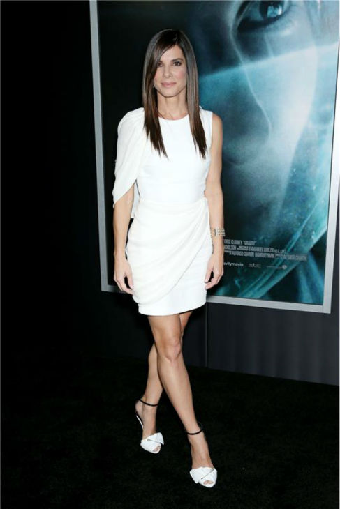 "<div class=""meta ""><span class=""caption-text "">Sandra Bullock appears at the premiere of 'Gravity' at AMC Lincoln Square in New York on Oct. 1, 2013. (Marion Curtis / Startraksphoto.com)</span></div>"