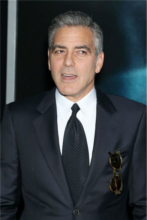 George Clooney appears at the premiere of &#39;Gravity&#39; at AMC Lincoln Square in New York on Oct. 1, 2013. <span class=meta>(Marion Curtis &#47; Startraksphoto.com)</span>