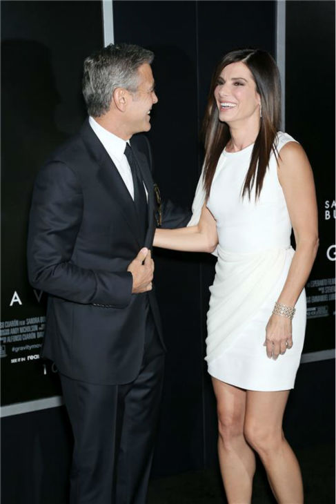 "<div class=""meta ""><span class=""caption-text "">George Clooney and Sandra Bullock appear at the premiere of 'Gravity' at AMC Lincoln Square in New York on Oct. 1, 2013. (Marion Curtis / Startraksphoto.com)</span></div>"