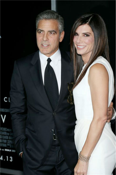 George Clooney and Sandra Bullock appear at the premiere of &#39;Gravity&#39; at AMC Lincoln Square in New York on Oct. 1, 2013. <span class=meta>(Marion Curtis &#47; Startraksphoto.com)</span>