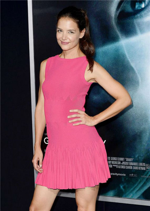Katie Holmes appears at the premiere of &#39;Gravity&#39; at AMC Lincoln Square in New York on Oct. 1, 2013. <span class=meta>(Humberto Carreno &#47; Startraksphoto.com)</span>