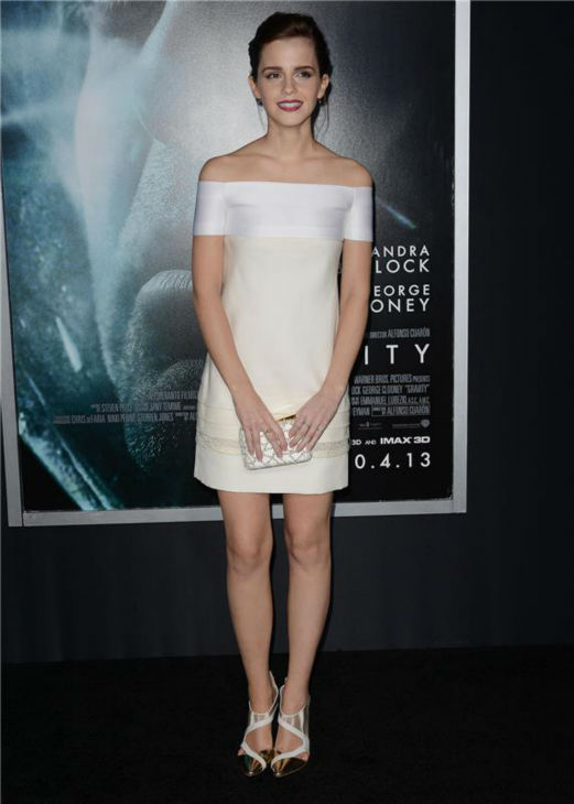 Emma Watson of &#39;Harry Potter&#39; fame appears at the premiere of &#39;Gravity&#39; at AMC Lincoln Square in New York on Oct. 1, 2013. <span class=meta>(Humberto Carreno &#47; Startraksphoto.com)</span>