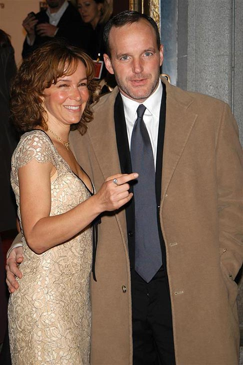 Clark Gregg and wife Jennifer Grey attend the 2003 New York City Gala to benefit Project A.L.S. at the Hammerstein Ballroom in New York on Oct. 20, 2003.  The two wed in July 2001 and are parents to daughter Stella, who was born in December of that year. <span class=meta>(Startraksphoto.com)</span>