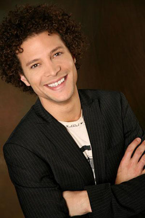 Justin Guarini in a promotional still from his personal MySpace. &