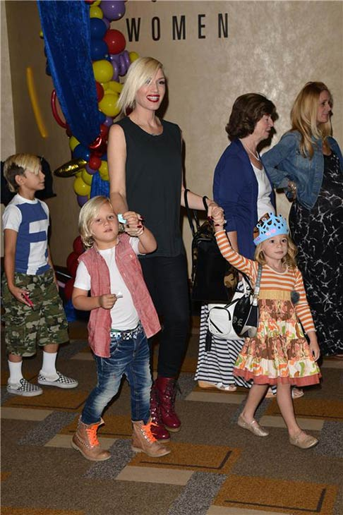 Gwen Stefani, sons Kingston and Zuma and a guest attend the premiere of the Disney Junior Live On Tour! Pirate and Princess Adventure event in Hollywood, California on Sept. 29, 2013. <span class=meta>(Tony DiMaio &#47; Startraksphoto.com)</span>