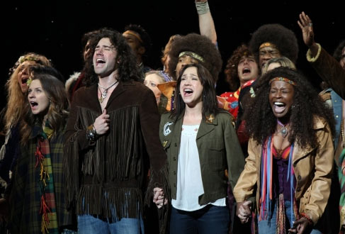 Diana DeGarmo appears in 'Hair' with fellow 'American Idol' alum Ace Young.
