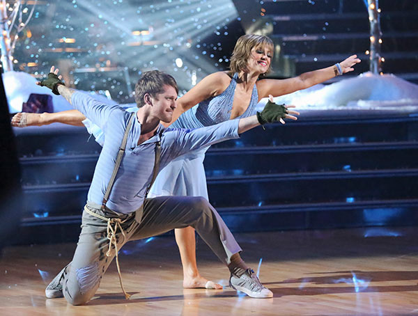 "<div class=""meta ""><span class=""caption-text "">Olympic figure skater Dorothy Hamill and her partner Tristan Macmanus received 21 out of 30 points from the judges for their Contemporary routine on the season premiere of 'Dancing With The Stars,' which aired on March 18, 2013. (ABC Photo)</span></div>"