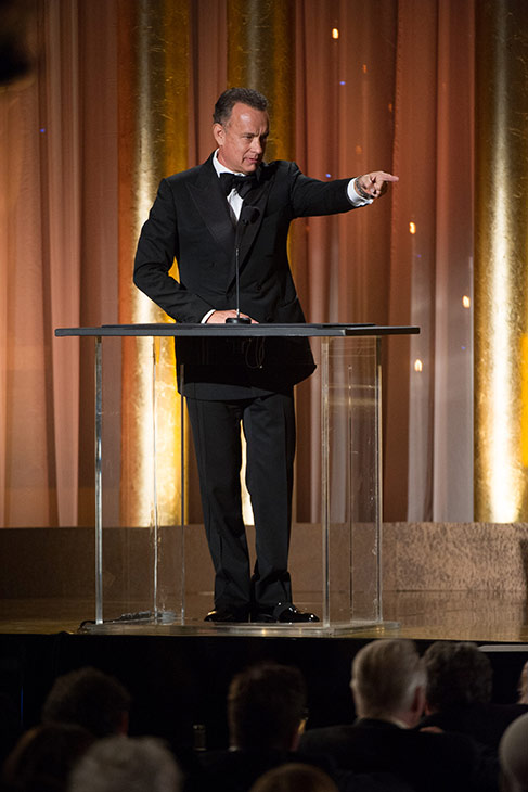 "<div class=""meta image-caption""><div class=""origin-logo origin-image ""><span></span></div><span class=""caption-text"">Oscar-winning actor Tom Hanks speaks as part of the award presentation to Honorary Award recipient Steve Martin during the 2013 Governors Awards at The Ray Dolby Ballroom at Hollywood and Highland Center in Hollywood, California on Saturday, Nov. 16, 2013. (Michael Yada / A.M.P.A.S.)</span></div>"