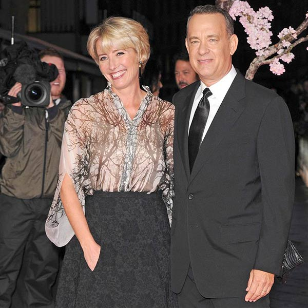 Tom Hanks and Emma Thompson attend the world premiere of Disney&#39;s &#39;Saving Mr. Banks&#39; at the closing night of the 57th BFI London Film Festival at the Odeon Leicester Square theater in London on Oct. 20, 2013. <span class=meta>(Nick Sadler &#47; Startraksphoto.com)</span>