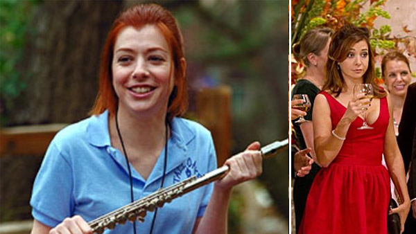 Alyson Hannigan appears in a scene from 'American Pie 2' in 2001. / Alyson Hannigan appears in a scene from the show 'How I Met Your Mother.'