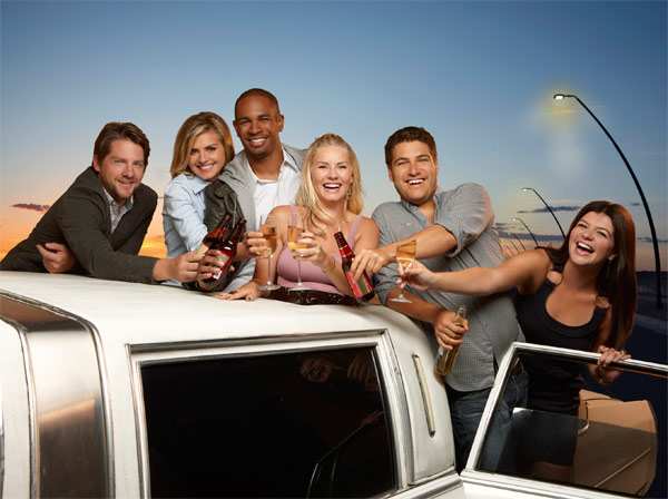 Still image from the show 'Happy Endings.'