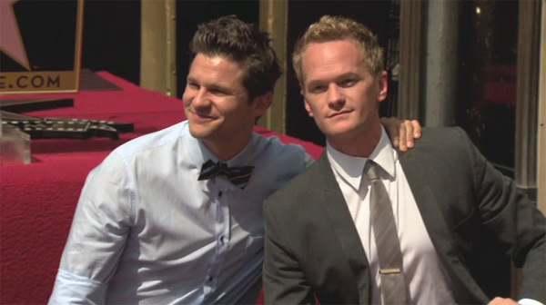 Neil Patrick Harris poses with his life partner...