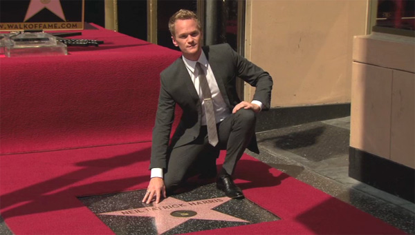 Neil Patrick Harris appears at his star ceremony...