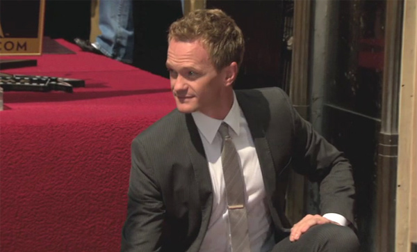 Neil Patrick Harris appears at his star ceremony on the Hollywood Walk of Fame on Sept. 15, 2011.