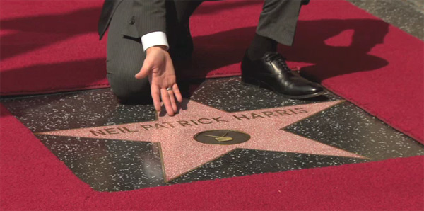Neil Patrick Harris' Hollywood star ceremony on the Walk of Fame.